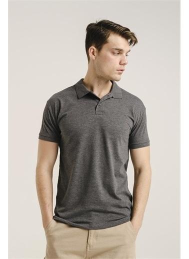 Oksit Alcott Polo Yaka Slim Fit Erkek Tshirt Füme